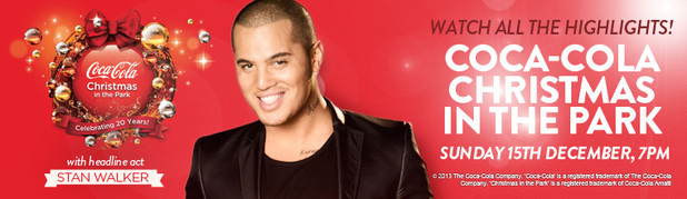 COCA-COLA CHRISTMAS IN THE PARK - Join Jeremy Corbett for the biggest, happiest, most magical musical extravaganza on the Christmas calendar. Guests include Stan Walker, Drew Neemia, plus stars from TV3's The X Factor NZ.