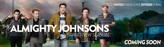 THE ALMIGHTY JOHNSONS - A comedy-drama series about four brothers who just happen to be descended from Norse Gods. Returning soon to TV3.