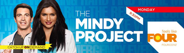 THE MINDY PROJECT - FOUR's brand new comedy starring Mindy Kalin - star, writer and producer of The Office. Mondays, 9.30pm on FOUR.