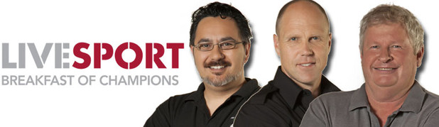 THE LIVESPORT BREAKFAST OF CHAMPIONS - The LiveSPORT Breakfast of Champions is hosted by Nathan Rarere, Ian Smith and Jeff Wilson, weekdays from 6.00am - 10.00am.
