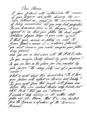 Dear Clarice